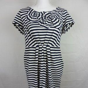 Kate Spade sz M Nautical Shift Dress Striped